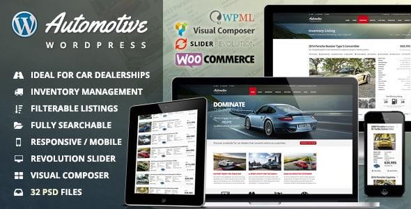 Tema Automotive - Template WordPress