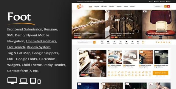 TEma Foot - Template WordPress