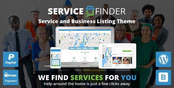 Tema service finder - Template WordPress