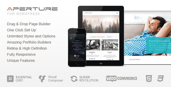 Tema Aperture - Template WordPress