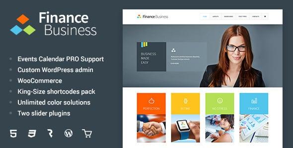 Tema Finance Business - Template WordPress
