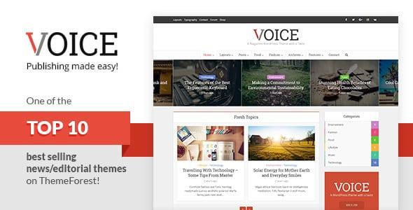 Tema Voice - Template WordPress