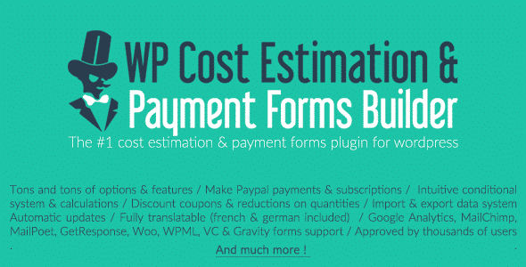 Plugin Wp Cost Estimation Payment Forms Builder