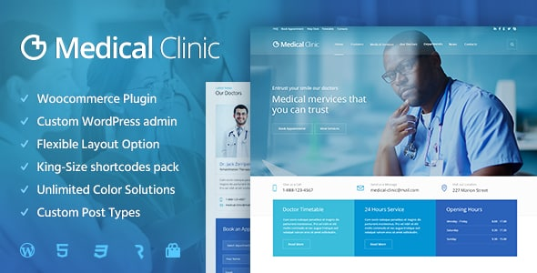 Tema Medical Clinic - Template WordPress