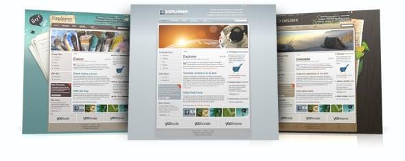 Tema Explorer YooTheme - Template WordPress 1