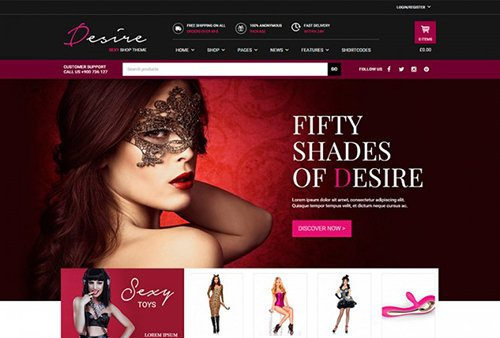 Tema Desire Shop Yith - Template WordPress