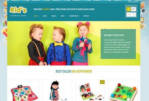 Tema Kid shop Yith - Template WordPress