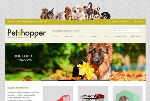 Tema PetShopper Yith - Template WordPress