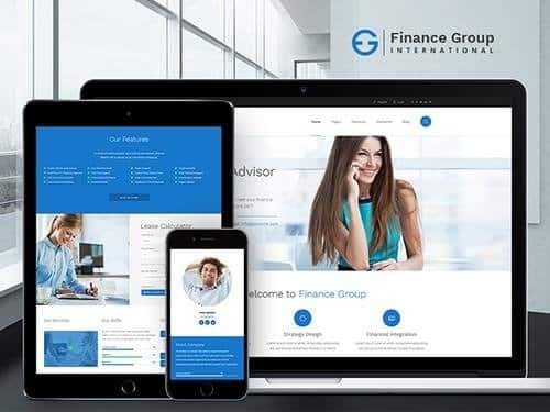 Tema Finance AxiomThemes - Template WordPress