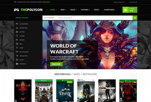 Tema The Polygon Yith - Template WordPress