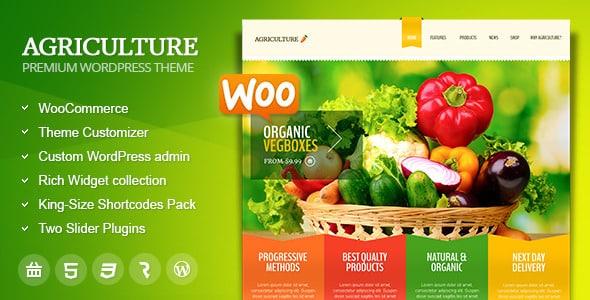 Tema Agriculture - Template WordPress