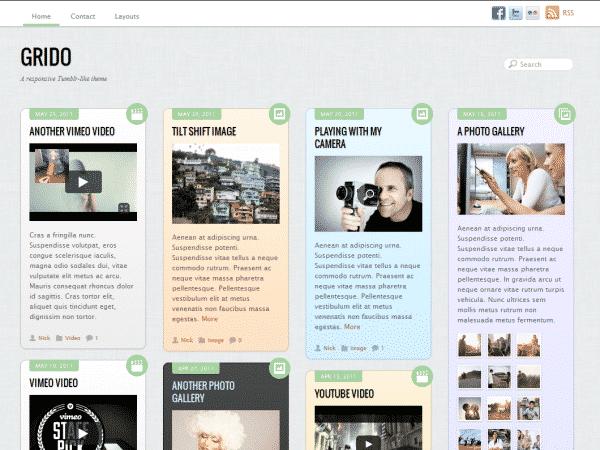 Tema Grido Themify - Template WordPress