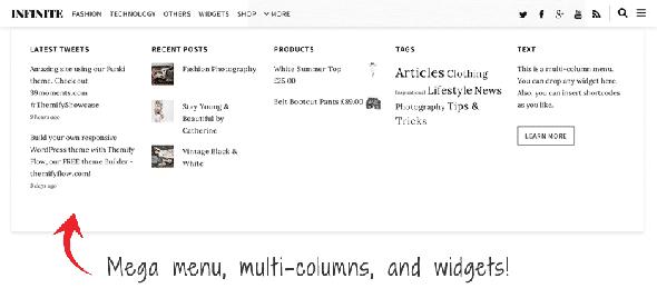 Tema Infinite Themify - Template WordPress