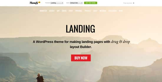 Tema Landing Themify - Template WordPress