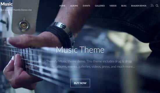 Tema Music Themify - Template WordPress