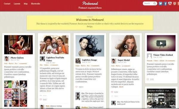 Tema Pinboard Themify - Template WordPress