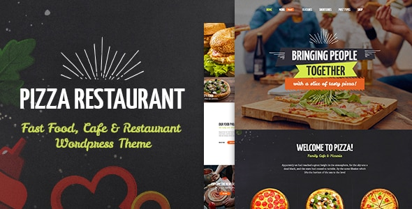 Tema Pizza Restaurant - Template WordPress