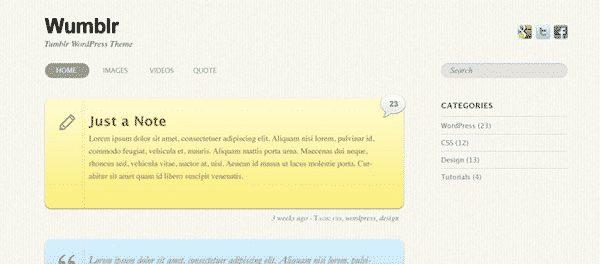 Tema Wumblr Themify - Template WordPress