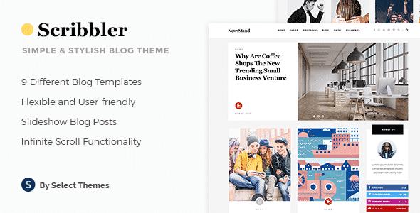 Tema Scribbler - Template WordPress