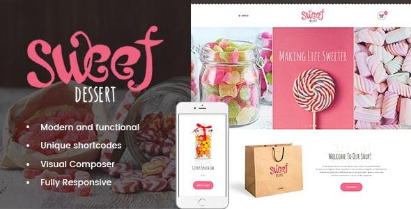 Tema Sweet Dessert - Template WordPress