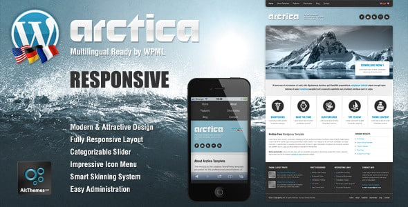 Tema Arctica - Template WordPress