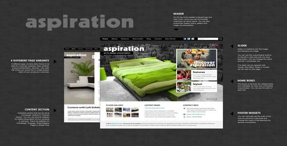 Tema Aspiration - Template WordPress