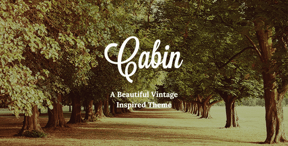 Tema Cabin - Template WordPress