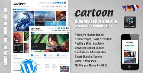 Tema Cartoon - Template WordPress