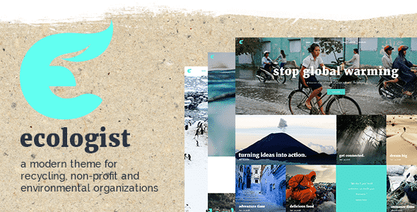 Tema Ecologist - Template WordPress