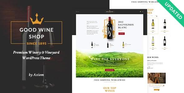 Tema Good Wine - Template WordPress