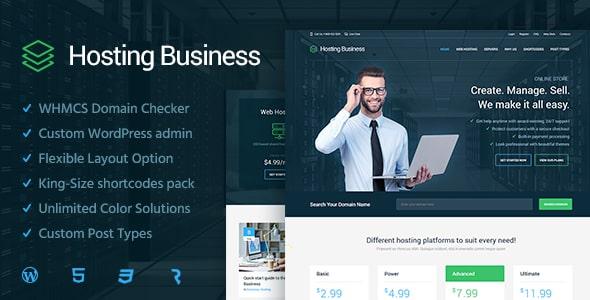 Tema Hosting Business - Template WordPress