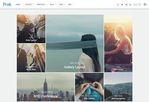 Tema Peak Themify - TEmplate WordPress