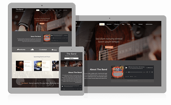 Tema The BAnd - Template WordPress