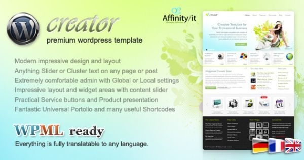Tema Creator AIT - Template WordPress