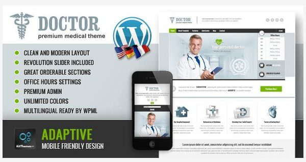 Tema Doctor AIT - Template WordPress