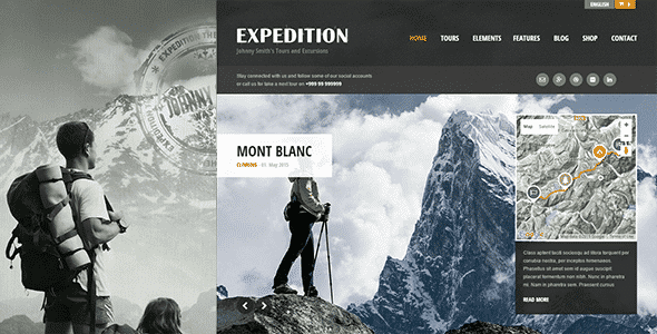 Tema Expedition - Template WordPress
