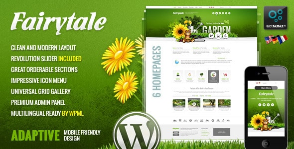 Tema Fairytale - Template WordPress