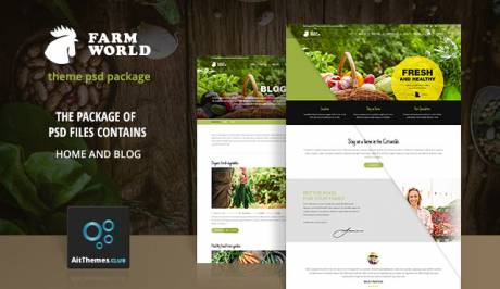 Tema FarmWorld - Template WordPress