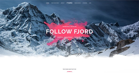 Tema Fjord - Template WordPress