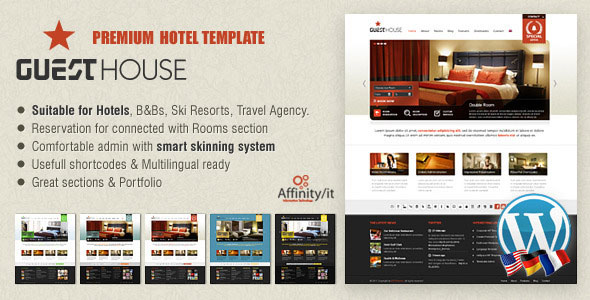 Tema Guesthouse - Template WordPress