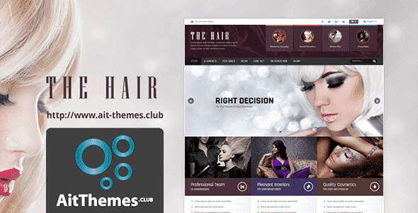Tema Hair AIT - Template WordPress