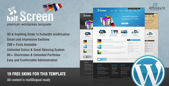Tema HalfScreen - Template WordPress