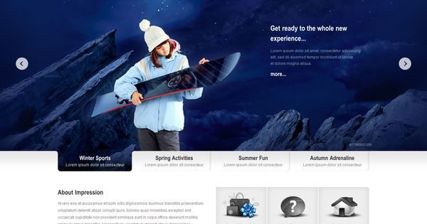 Tema Impression - Template WordPress