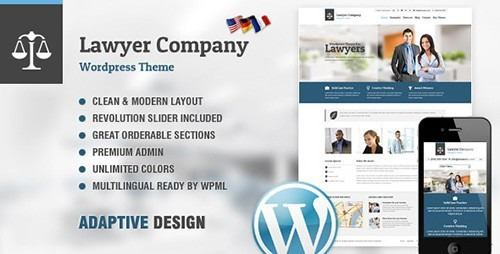 Tema Lawyer AIT - Template WordPress