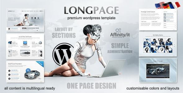 Tema LongPage - Template WordPress