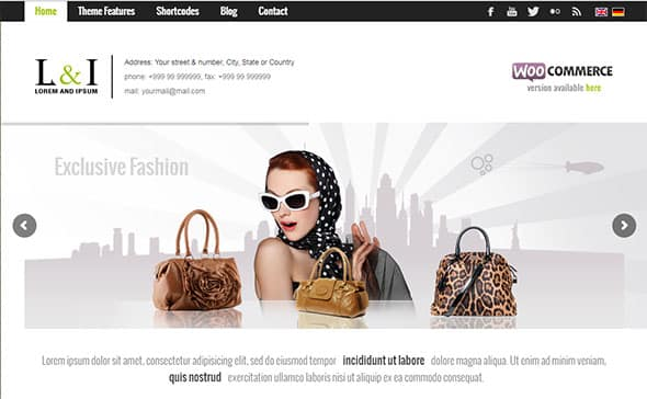 Tema Lorem - Template WordPress
