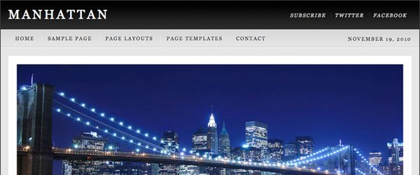 Tema Manhattan - Template WordPress