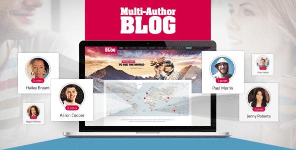 Tema Multi-Author Blog - Template WordPress