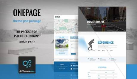 Tema OnePage AIT - Template WordPress
