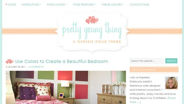 Tema Pretty Young Thing - Template WordPress